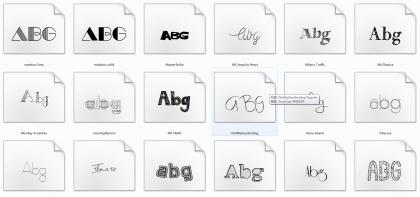 分享165款英文字体打包下载